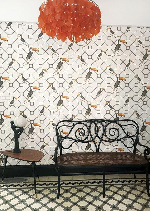 Interiorismo y decoración. Decoración con papeles pintados. Estudio Ryd, Madrid