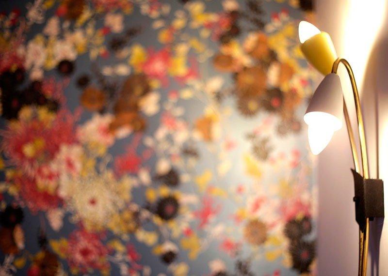 Interiorismo y decoración. Detalles con papeles pintados. Estudio Ryd, Madrid