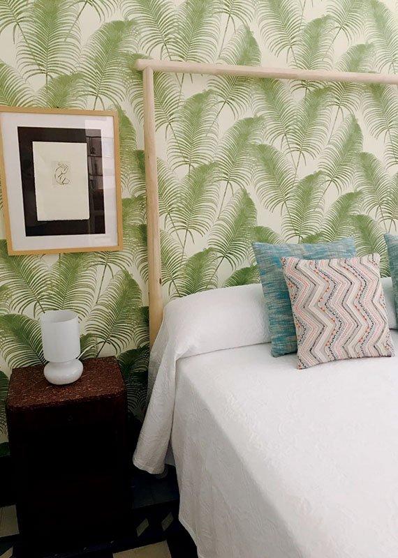 Interiorismo y decoración. Decoración con papeles pintados, dormitorios. Estudio Ryd, Madrid