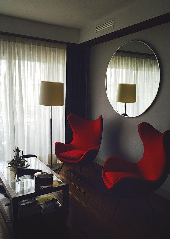 Interiorismo y decoración. Diseño Salón Estudio-Ryd,Madrid